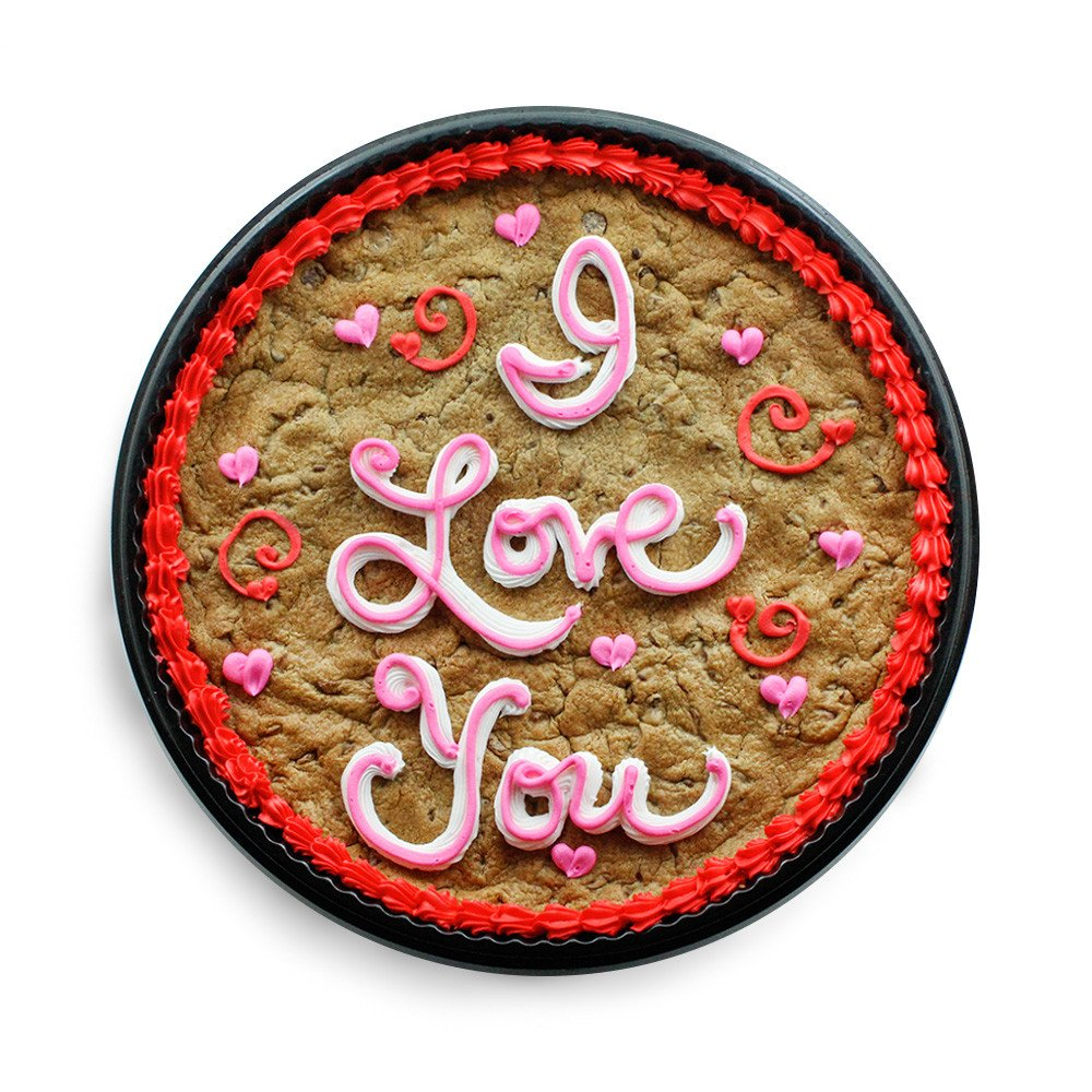 I love you romantic cookie cake idea