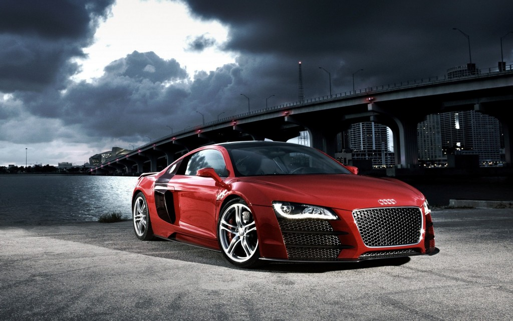 audi r8 red sports car marriage proposal idea