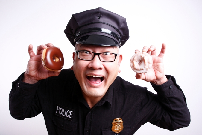 cop eating donut dates less than $10