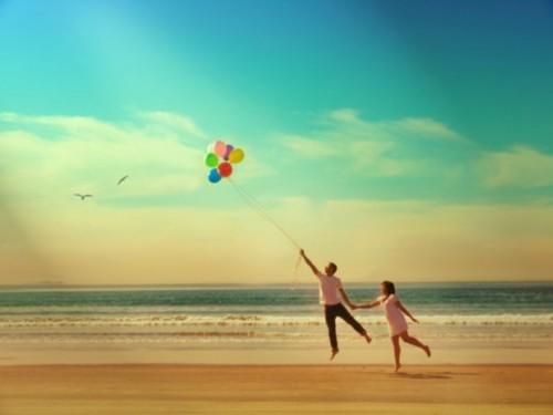 couple balloons romantic valentines