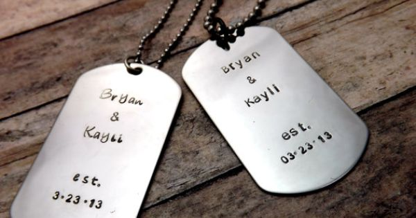 couple dog tags care package