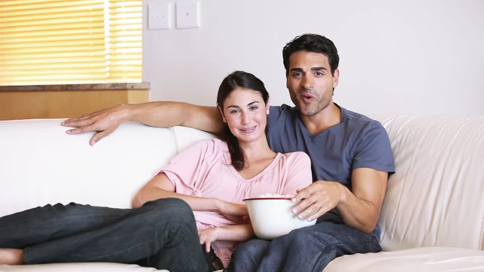 couple watching romantic tv idea