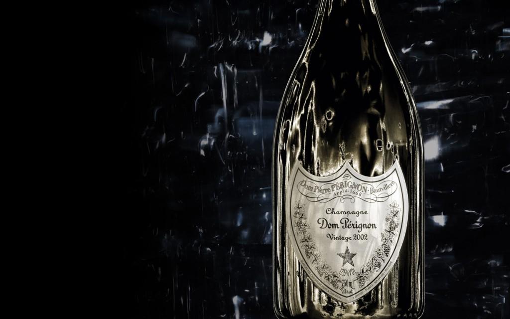 dom perignon romantic champagne personal logo