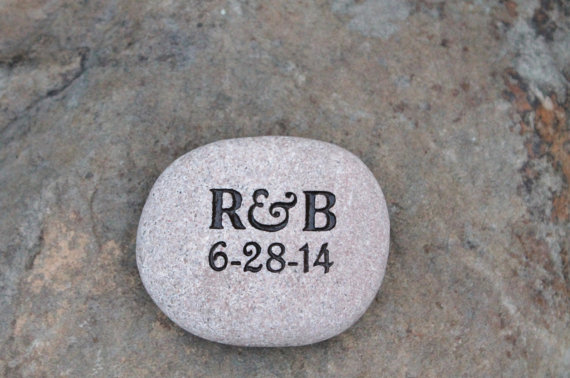 engraved stone rock pick me up ideas