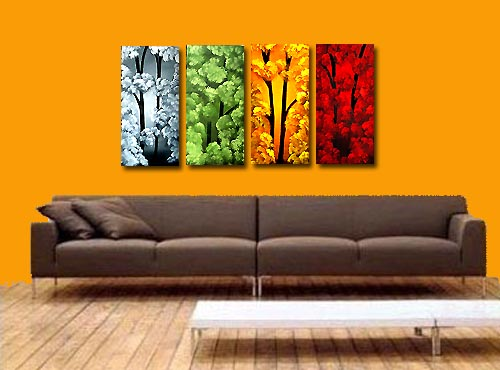 four make one romantic art painting idea
