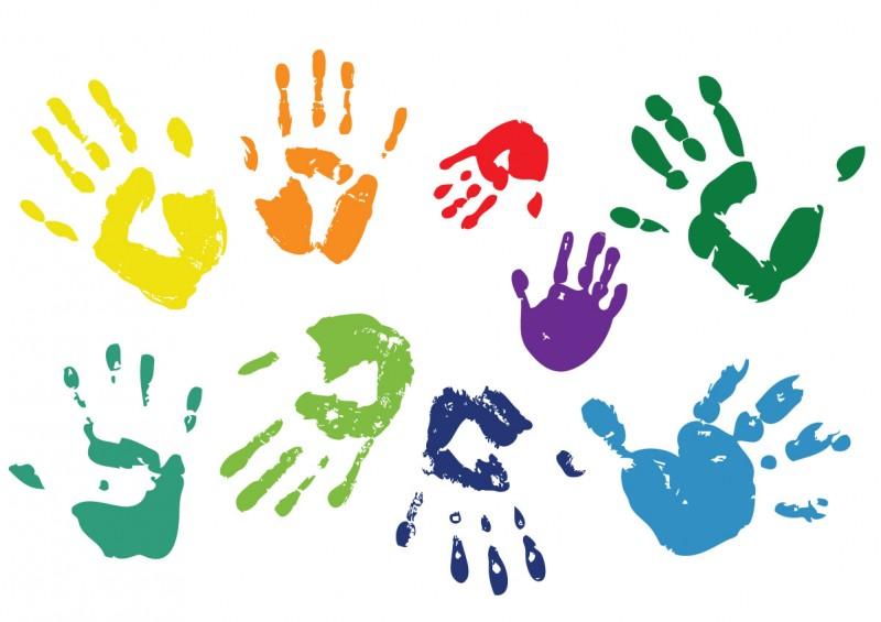 handprints paint romanc