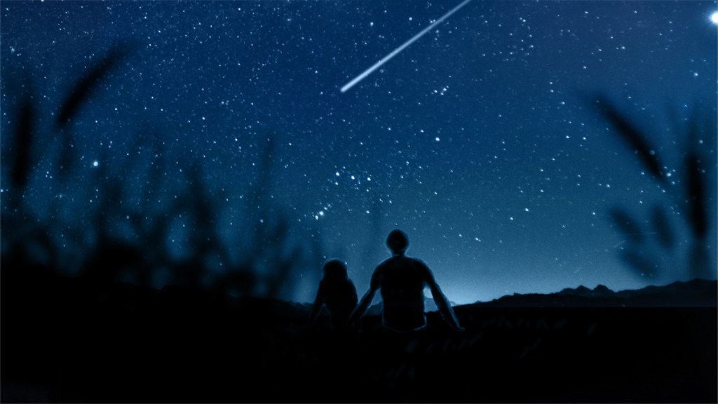 looking at stars romantic travel