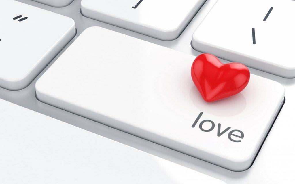love keyboard romantic online internet computer idea