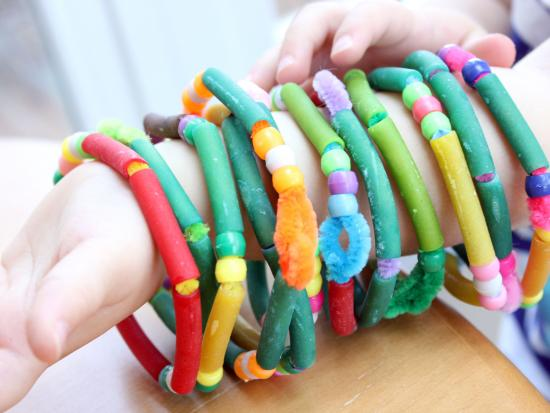 macaroni bracelets