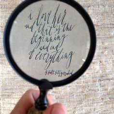 magnifying love quote