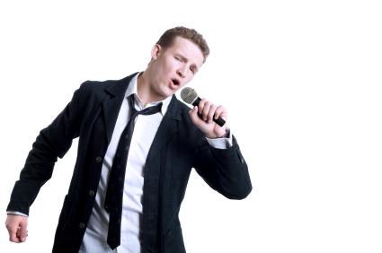 Singing Young Man