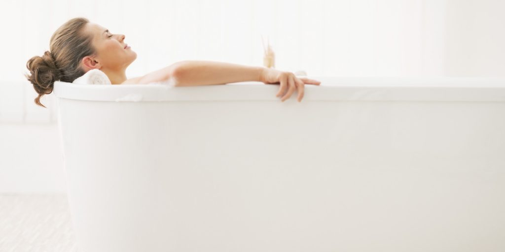 relaxing bath woman pick me up