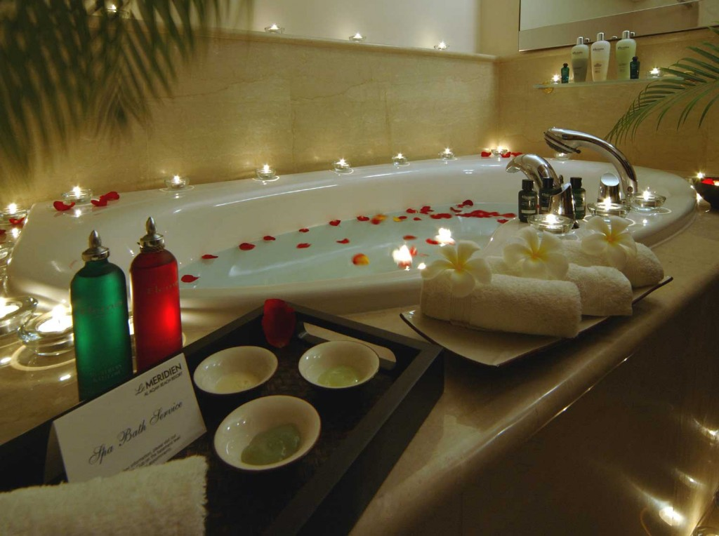 romantic bath together ideas
