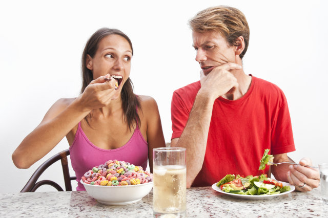 romantic couple dieting ideas having the same ideas