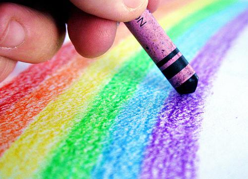 romantic crayons coloring art ideas