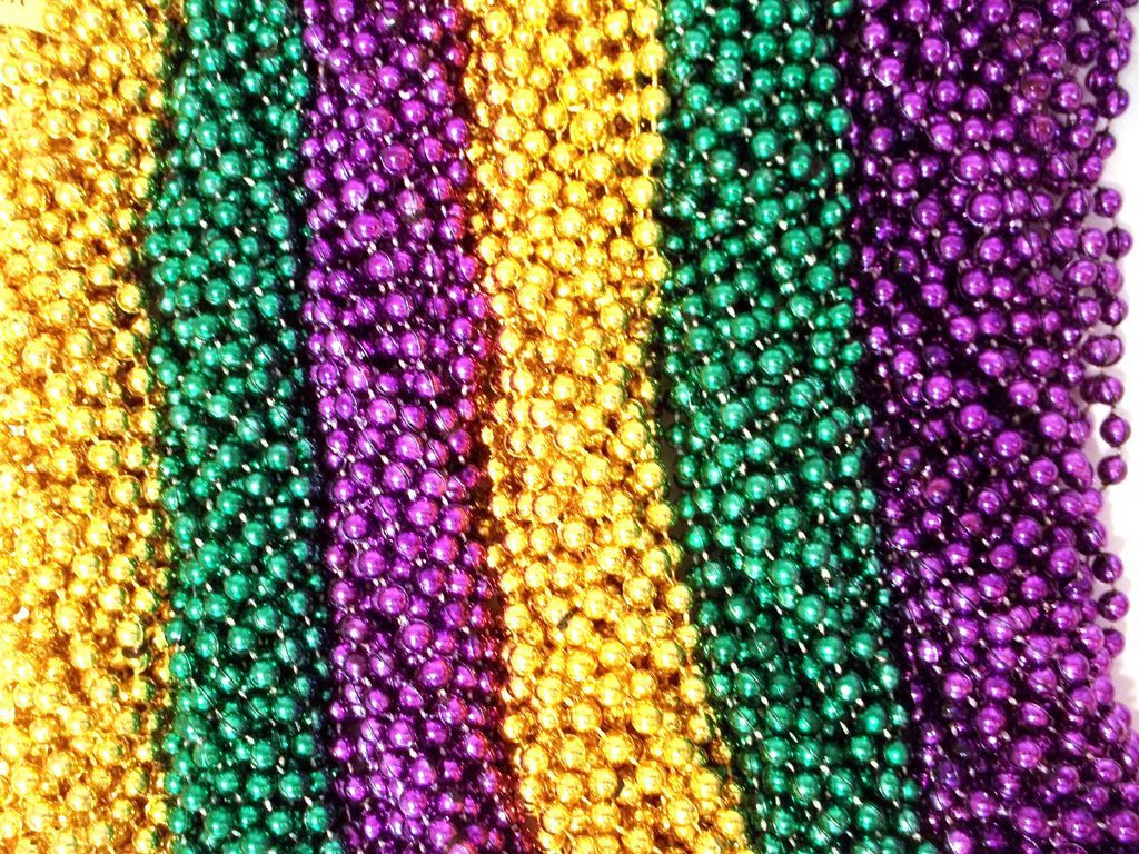 romantic green purple gold beads care package ideas