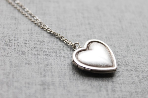 romantic heart locket life saving