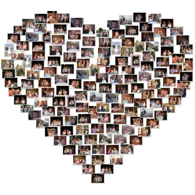 romantic heart photo collage hunt ideas