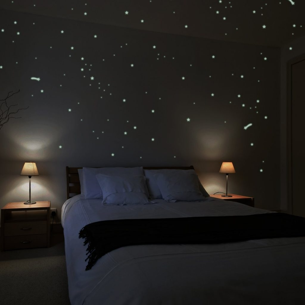 romantic ideas glow in the dark I love you star