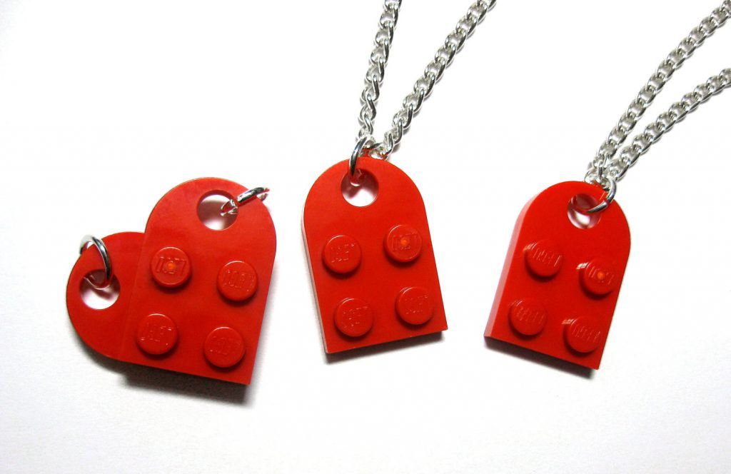romantic lego heart art ideas