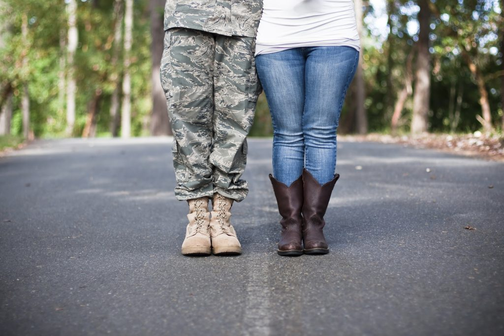 romantic military couple care package ideas brownies army standing boots