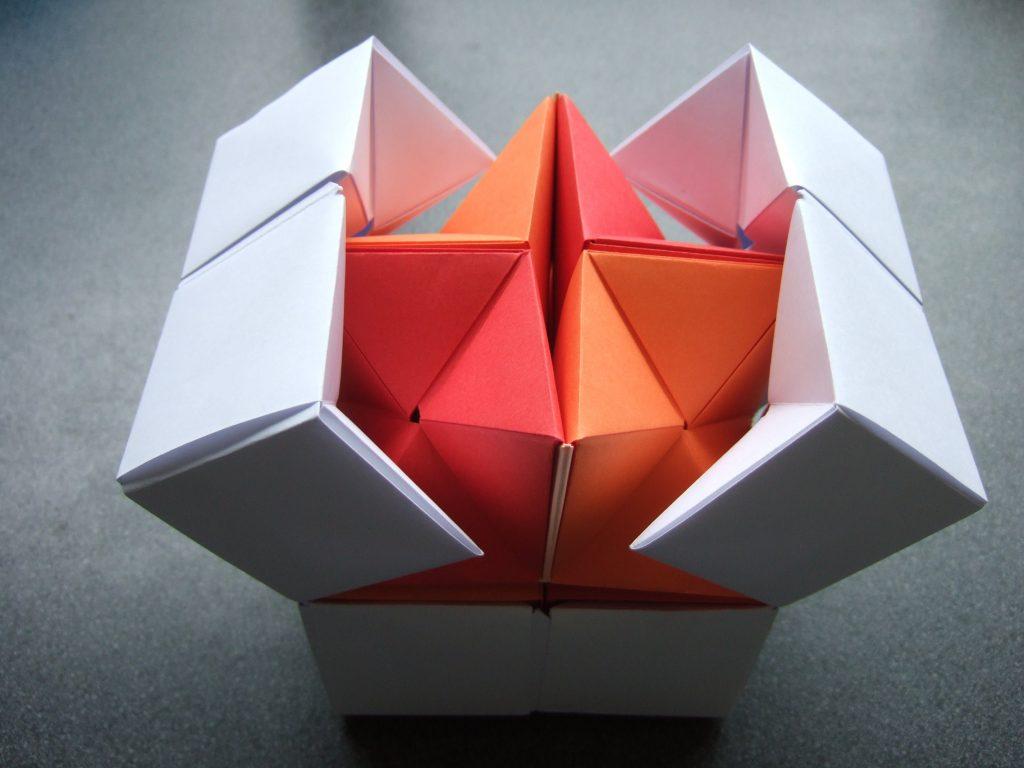 romantic origami balloon lucky charm