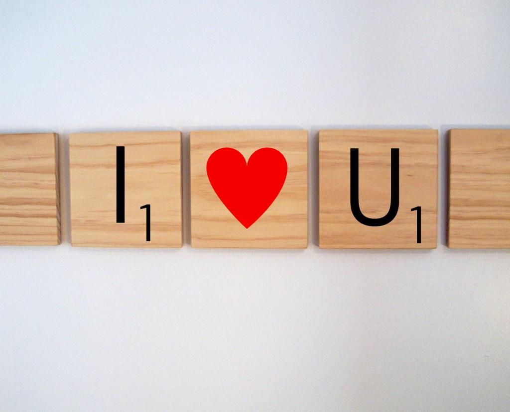 scrabble romantic heart board game ideas