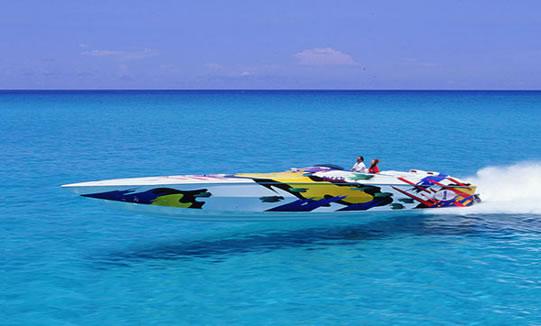 speed boat romantic bath