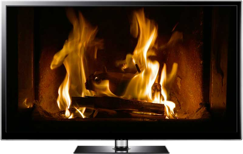 IS IT LIVE OR MEMOREX? – FIREPLACE ON YOUR TV