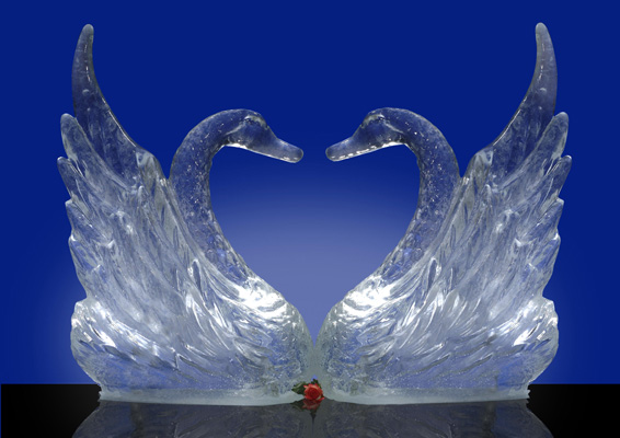 warm winter romance sculpture ideas