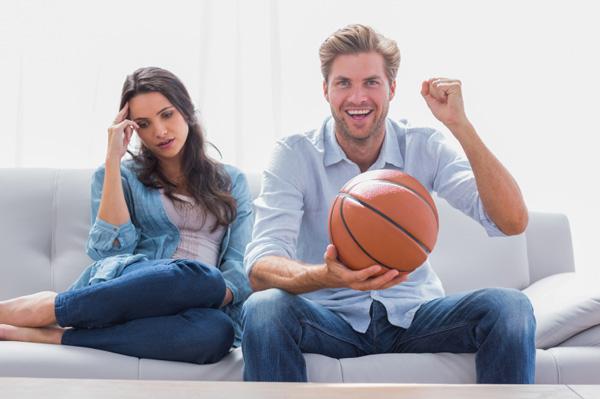 watching sports romantic