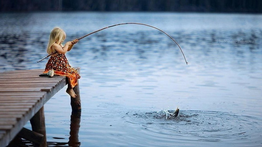 little girl fishing valentines ideas