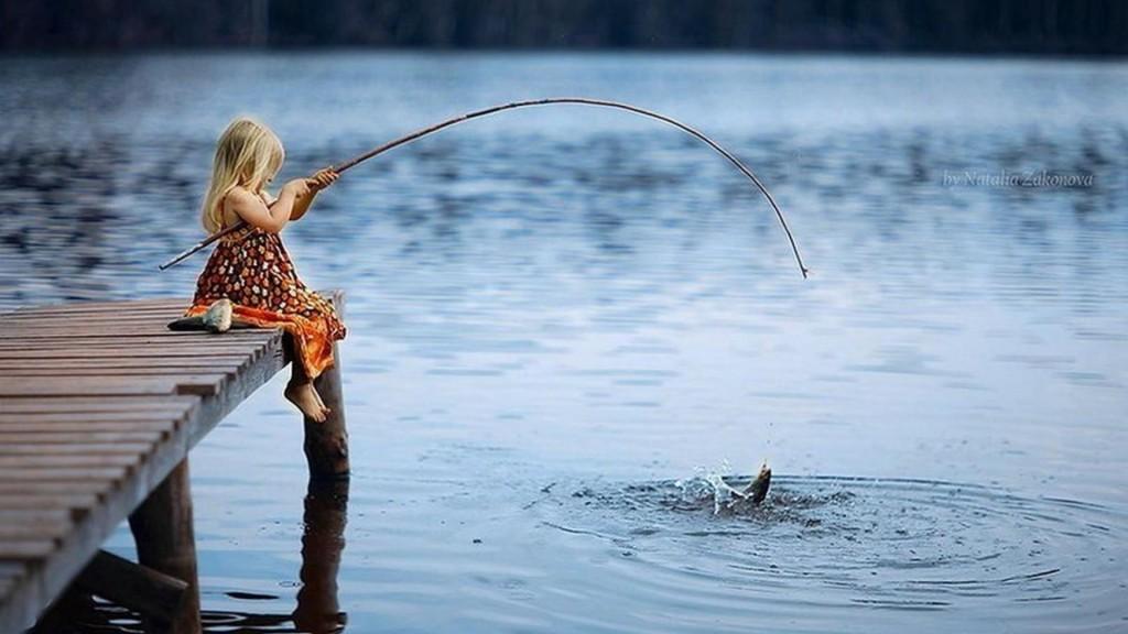little girl fishing valentines ideas