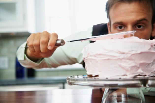 man baking cake romantic gift under $10