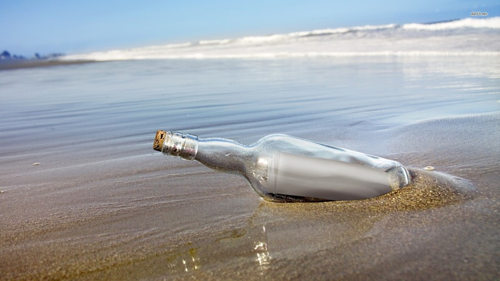 message in a bottle at work