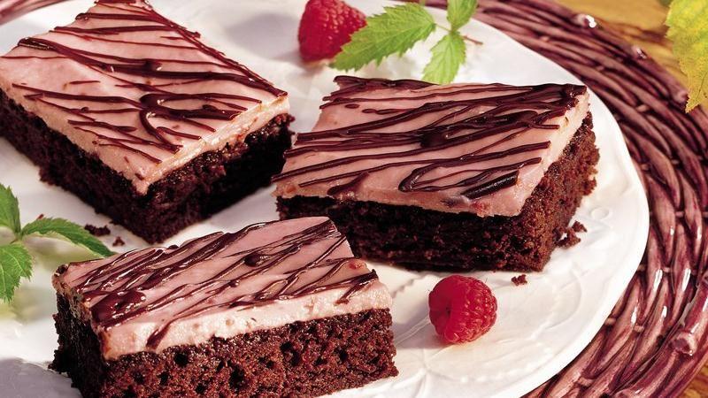 raspberry romance brownies